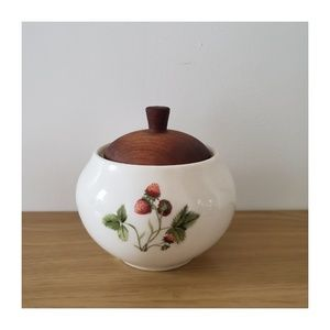 Other - Vintage Peter Terris Sugar Bowl with Wooden Lid